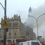 ไฟไหม้สถานีรถไฟบราซิล